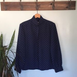 Pendleton Country Sophisticated navy blue blouse